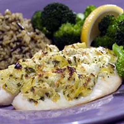 Artichoke Crusted Tilapia Fillets