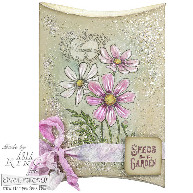 Stampendous Cosmos spray - water colours