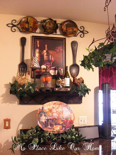 No place like our home new kitchen vignette 39 s for Kitchen themed wall art