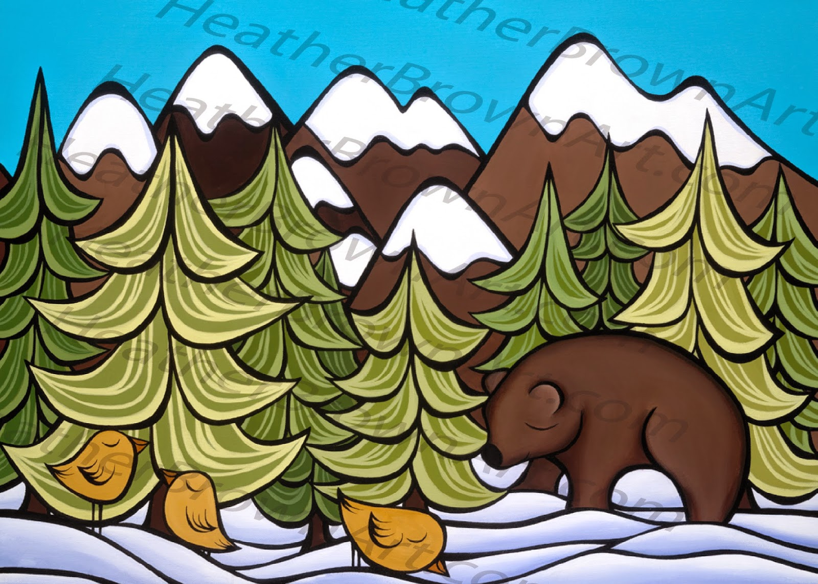 heather brown snow art