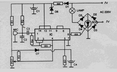 220 volt disco lamp circuit schematic diagram