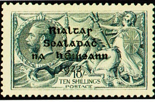 stampselector  stamp investment tip  ireland 1922 2sh6p to 10sh overprints  scott  12
