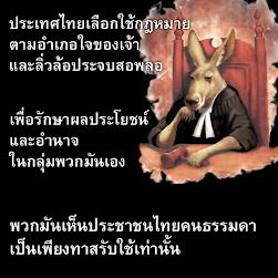 ประเทศไทยเลือกใช้กฎหมายตามอำเภอใจของเจ้า และลิ่วล้อประจบสอพลอ