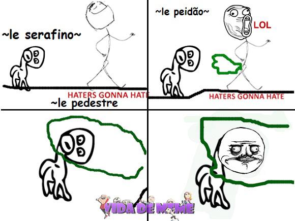 Tirinha do Blog Vida de Meme: Passeando na rua #TirinhaDoLeitor