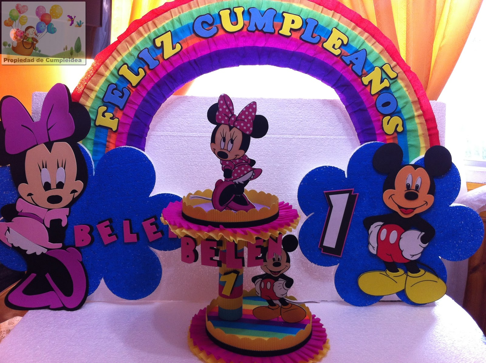 DECORACIONES INFANTILES: MINNIE Y MICKEY