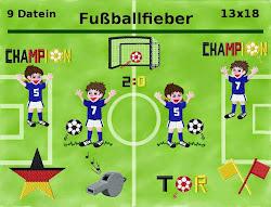 Stickdatei Fußballfieber 10x10 und 13x18