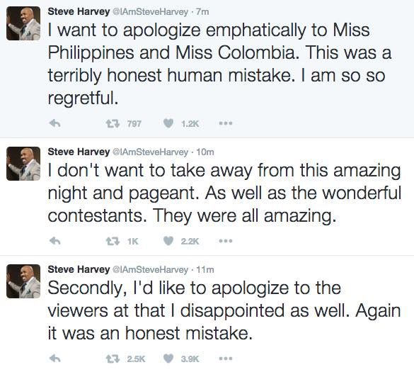Viral News Update: Steve Harvey Apologizes To The Whole World After The Miss