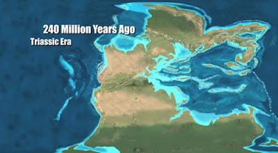 Paleo mapa del Triásico