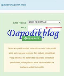Download dan generate frepil dapodik.