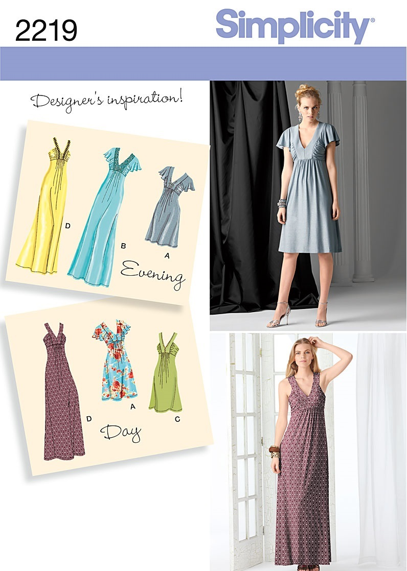 Kathy Sews : Maxi Dresses: I\'m On Board: Simplicity 2219