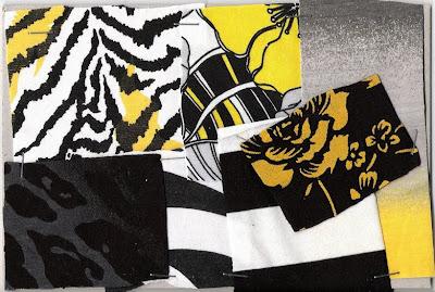 mustaa ja keltaista