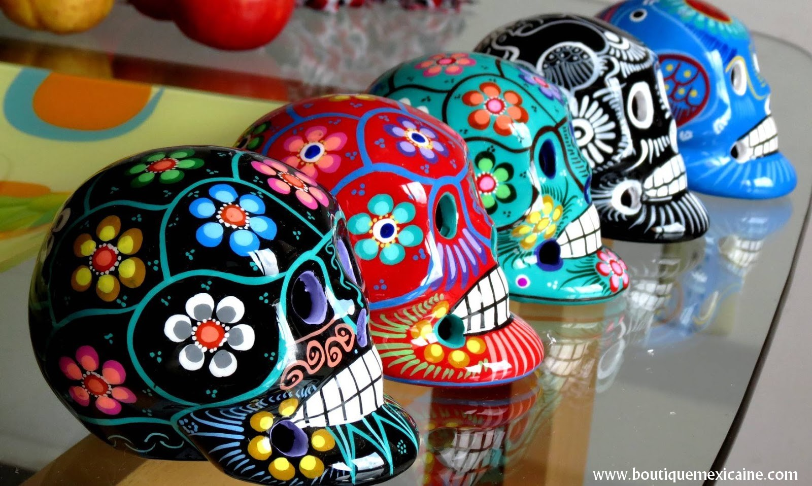 magasin mexicain tete de mort mexicaine calavera mexicaine. Black Bedroom Furniture Sets. Home Design Ideas