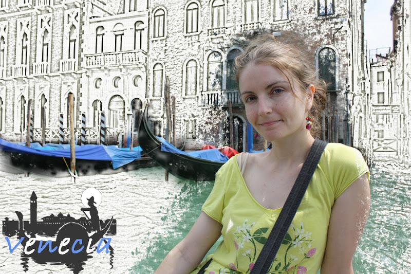 Composición dibujo cómic Venecia
