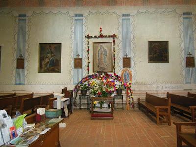San Miguel Mission Church Interior from side entrance, © B. Radisavljevic