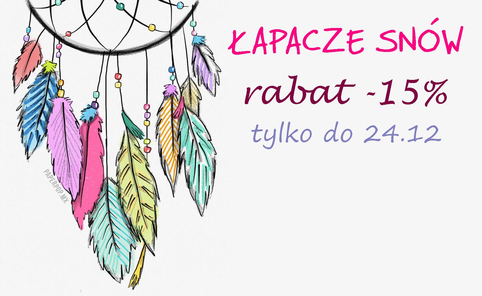 Do 24.12 udzielam rabatu na łapacze snów! :)