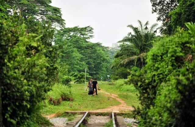 The former railway corridor near the old Bukit Timah station