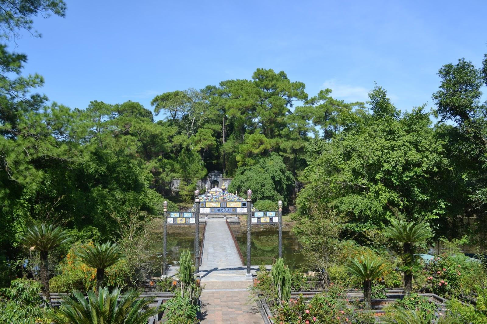 Way to the locked grave at Tomb Of Minh Mang , hue