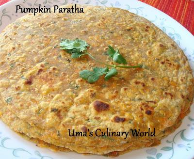 Pumpkin Paratha