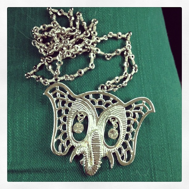 elephant necklace 60s statement necklace