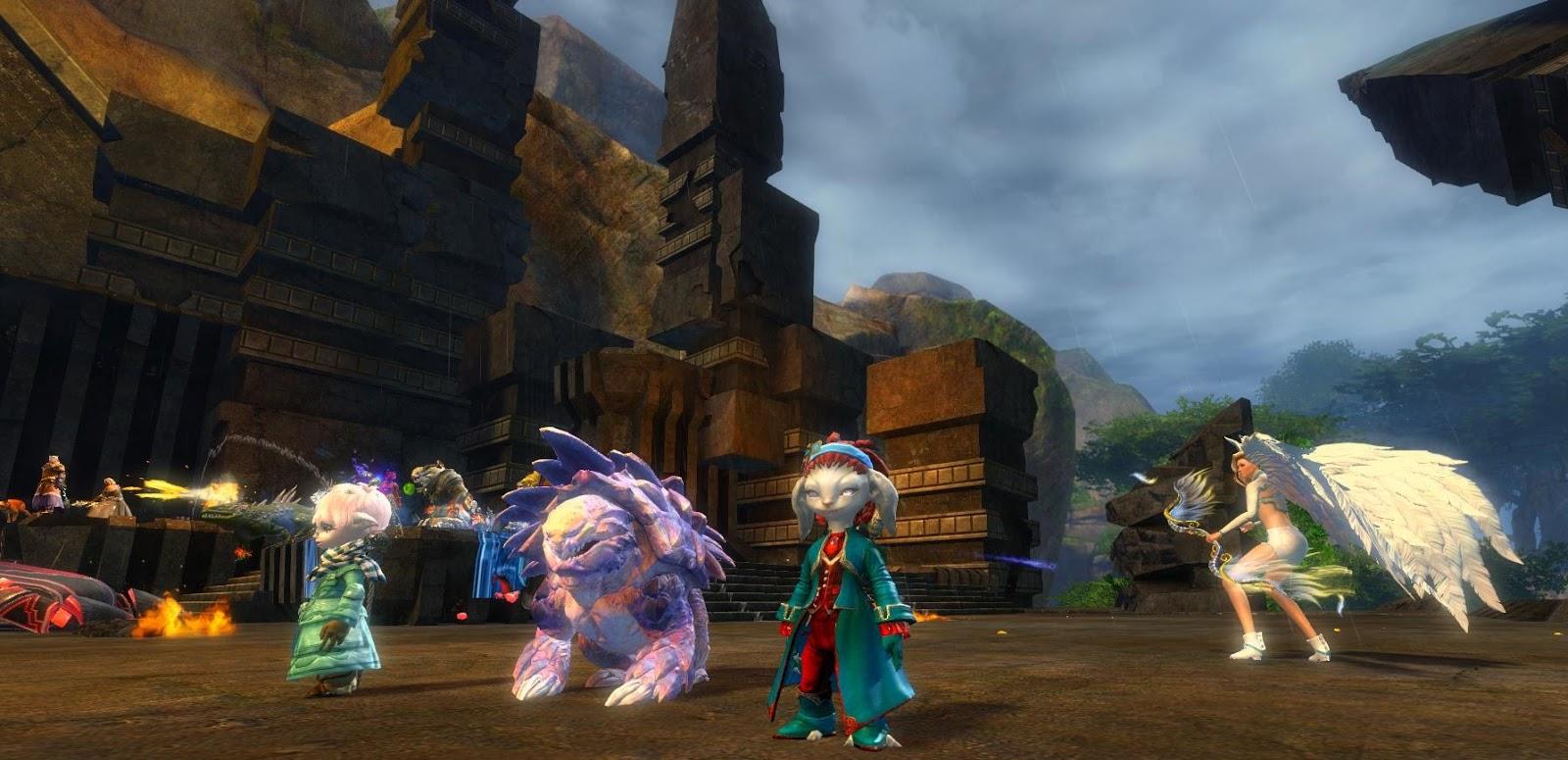 Guild wars 2 gw2 darkened desires gw2 fashion - Pink Pet Parade Gw2