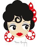 Este es el diseño que realice de una flamenca ,a la que le puse el nombre de Lola