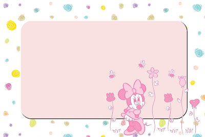 Minnie Mouse rosa con flores