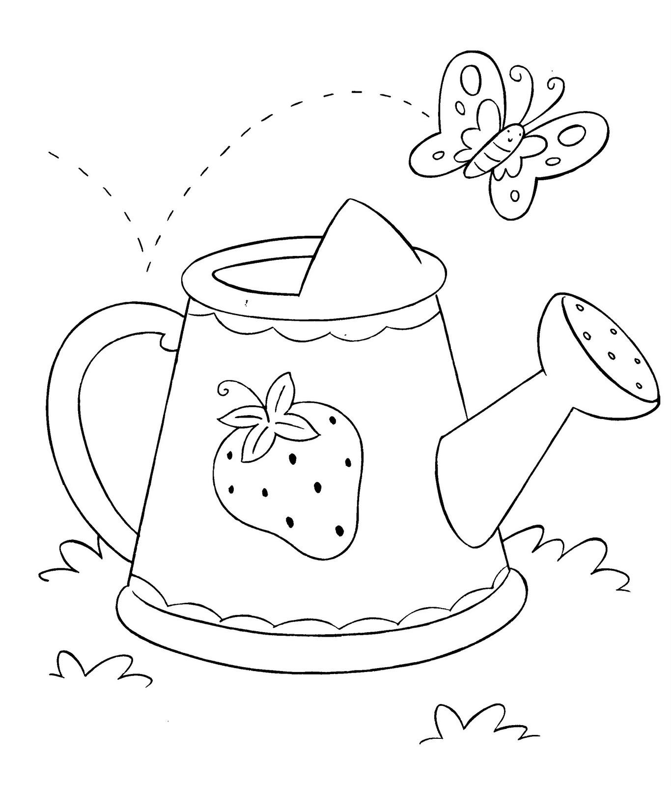 Dibujo para colorear de regadera de baño - Imagui