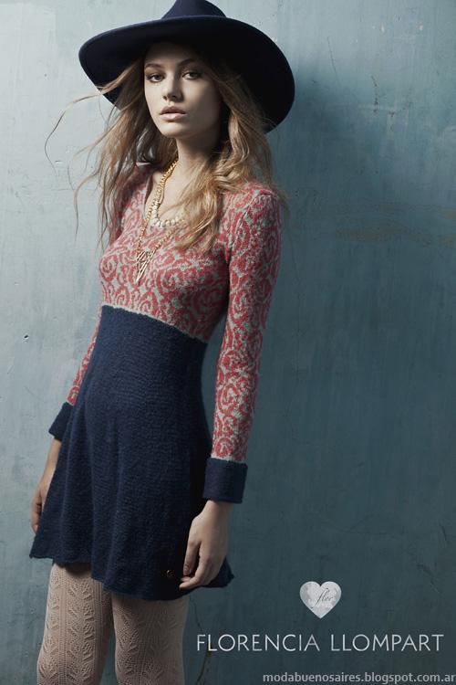 Vestidos tejidos otoño invierno 2014. Moda invierno 2014.