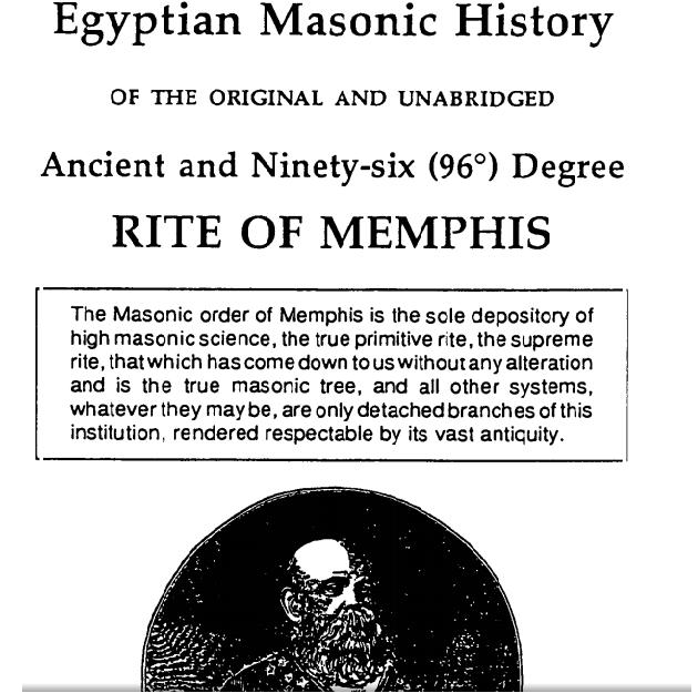 Rito de Menfis. Egyptian masonic history