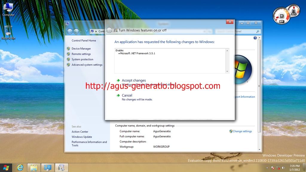 Mengaktifkan .NET Framework 3.5 Offline Di Windows 8