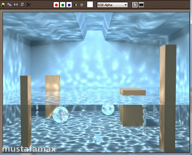 درس عمل caustics في Mental Ray لبرنامج 3d max 2015