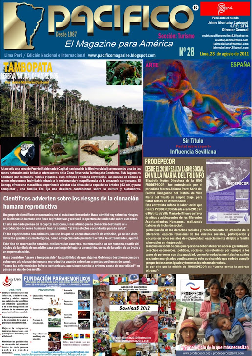 Revista Pacífico Nº 28 Turismo