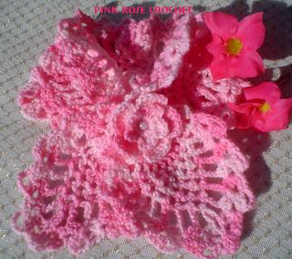 Crochet Pattern Pink Rose