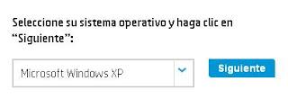 selección de sistema operativo