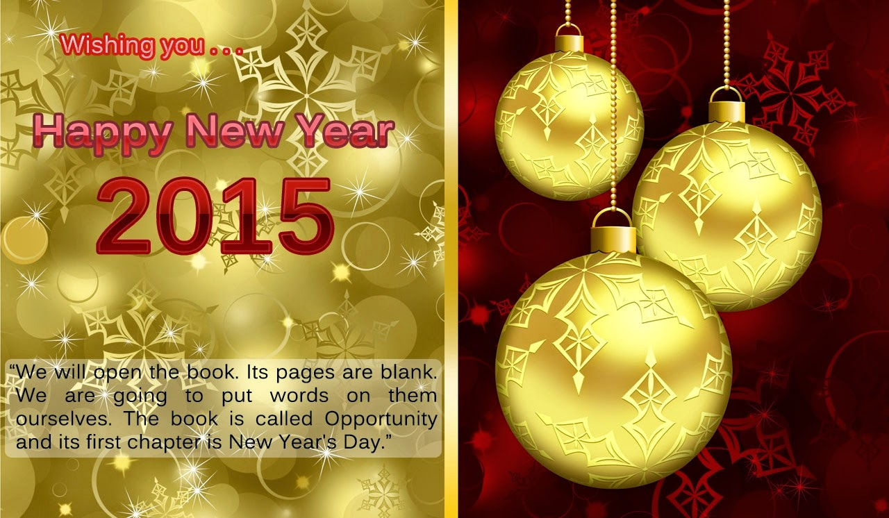 Best Wishes for Happy New Year Holiday Greetings Cards
