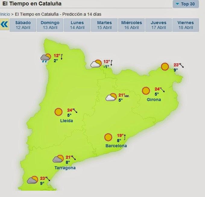 El tiempo Semana Santa Pirineos Catalanes