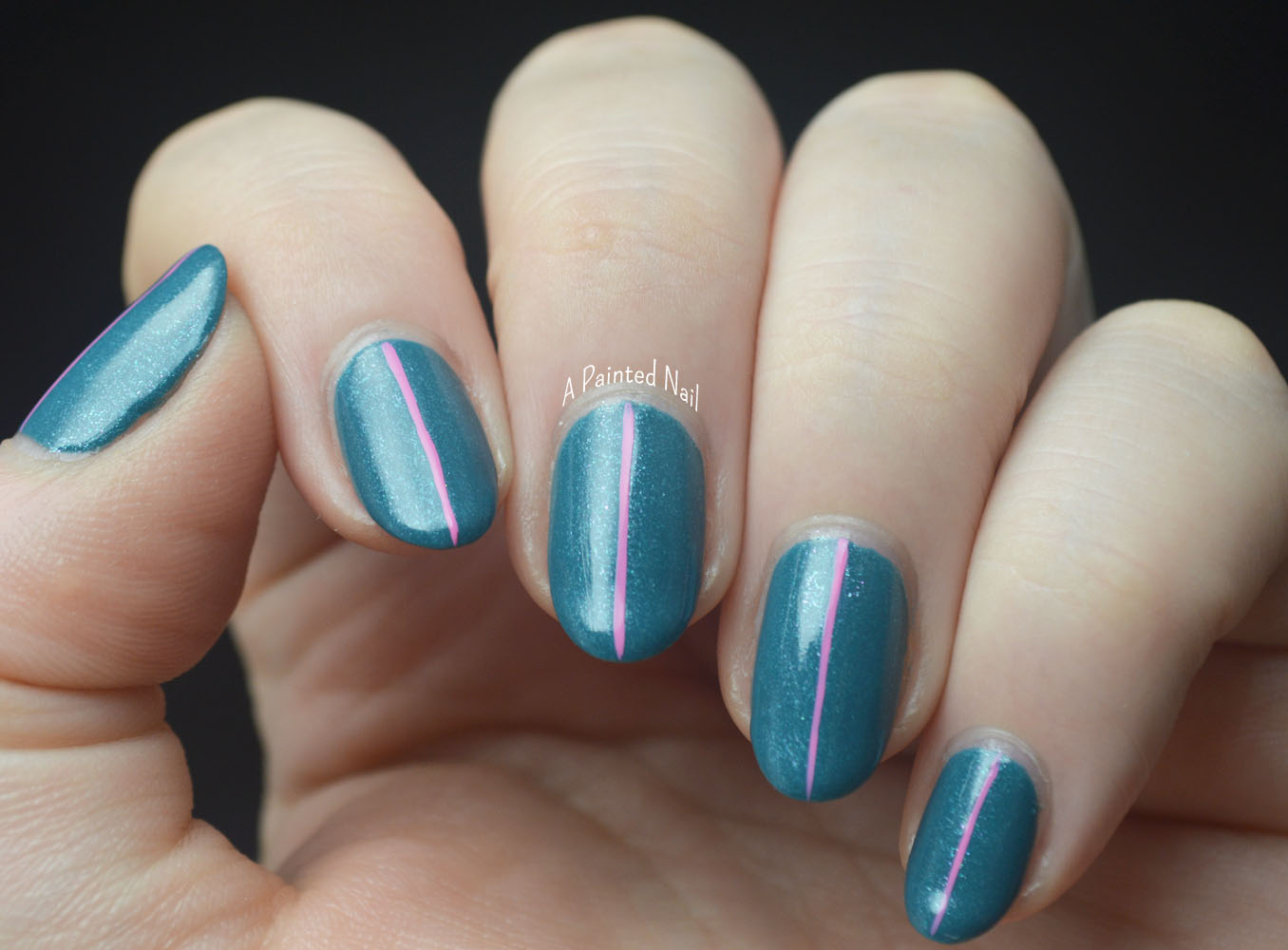 A Painted Nail: Twinsie Tuesday: Teal Nails For Ovarian Cancer Awareness