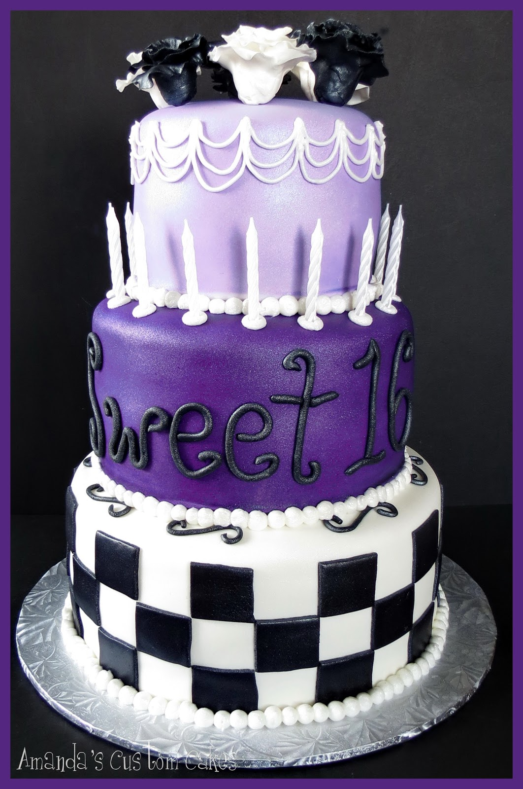 Amandas Custom Cakes Sweet 16 Cake