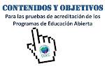 Objetivos y contenidos para pruebas de educación abierta 2014