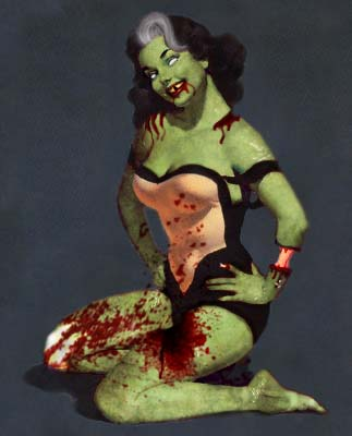 Zombie Pin Up No. 2