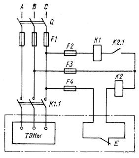 Электрическая схема подогревателя жидкости