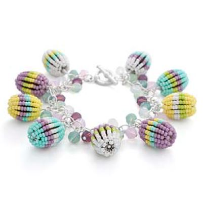 easy beaded easter bracelet tutorial and inspirational