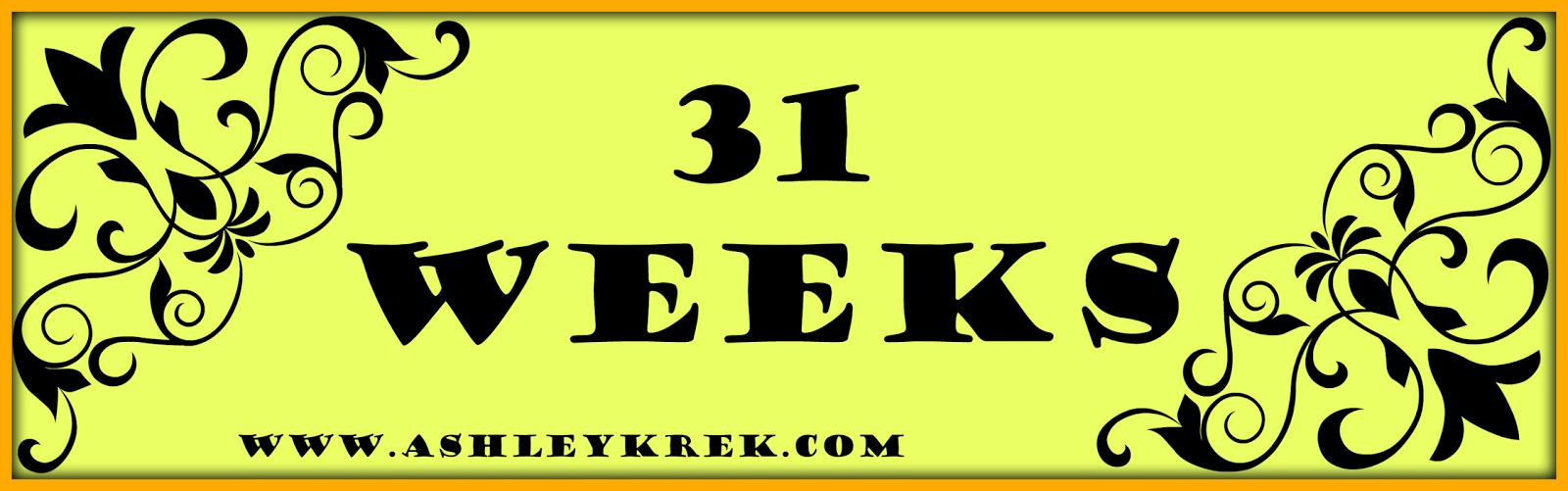 31 week baby bump