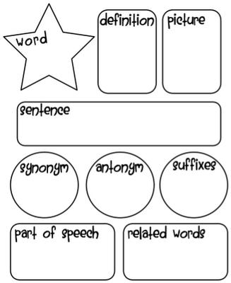 Word Work Graphic Organizer