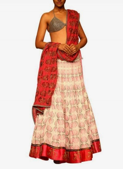 Lotus Printed Lehenga Set | Indian Designers | Indian Designer