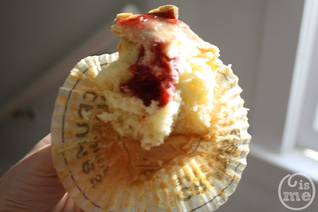 Crumbs Bake Shop Peanut Butter and Jelly Cupcake