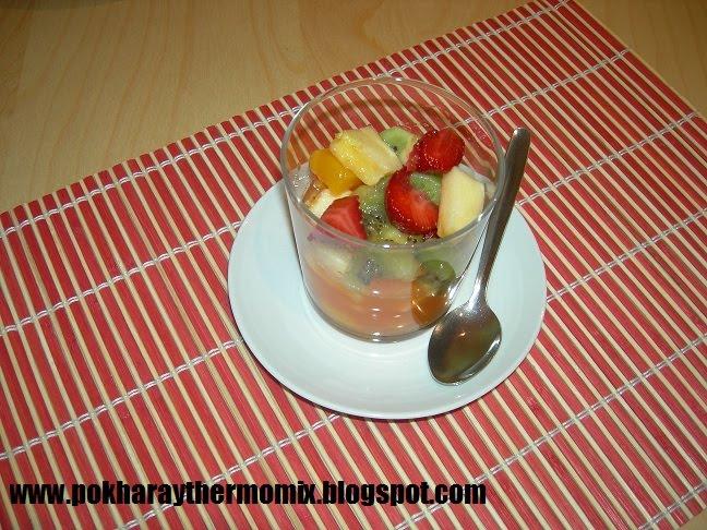F cil con thermomix dorada al horno y macedonia de frutas - Macedonia de frutas thermomix ...