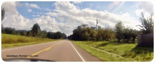Florida Florida Weg Sehenswert Fahrspur nach Straße Tipp