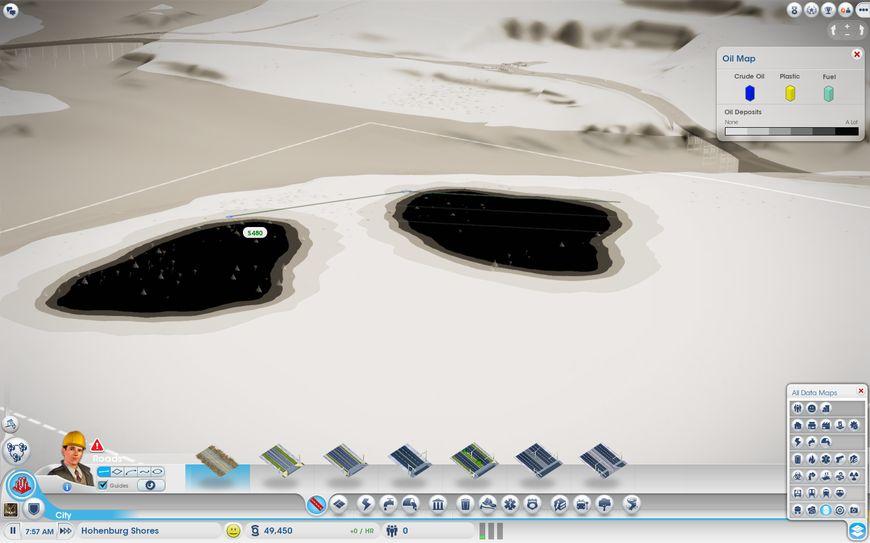 Подземные запасы нефти в SimCity