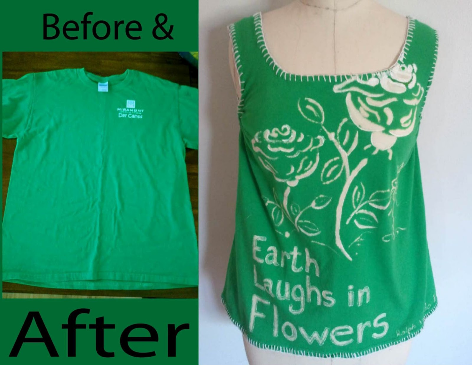 refashion co op before and after upcycled bleach tee. Black Bedroom Furniture Sets. Home Design Ideas